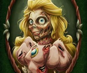 princess, peach, and zombie image
