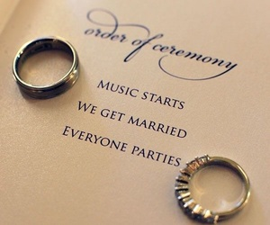 wedding, love, and rings image