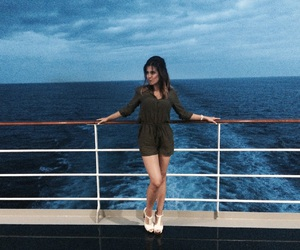 blue sea, cruise, and green image
