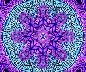 art, hippie, and mandala image