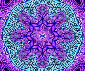 art, hippie, and mandala image