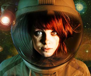 astronaut, scifi, and red hair image