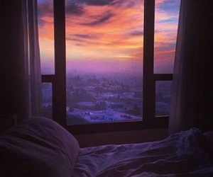 bed, city, and morning image