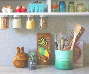 kitchen organization and using every inch of space image