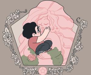 cartoon, rose quartz, and rose image