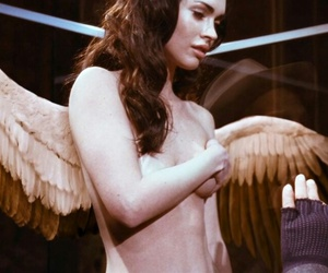 megan fox, angel, and wings image