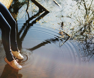 water, shoes, and photography image