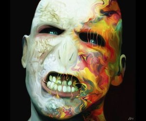rainbow and lord voldermort image