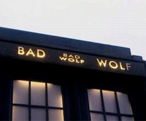 bad wolf, doctor who, and rose tyler image