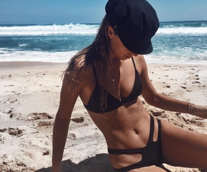 beach, fitness, and beauty image