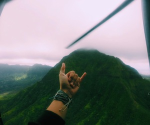 adventure, hawaii, and helicopter image