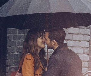 Jamie Dornan, rain, and dakota johnson image