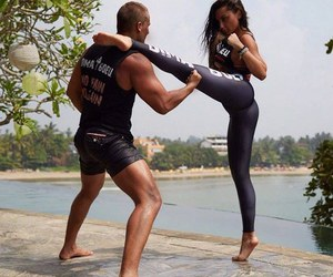 couple, fitness, and training image
