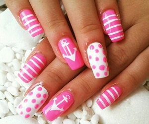 nails, uñas, and decoradas image