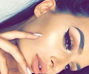 beautiful, eyebrowns, and make-up image