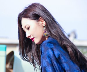 asian, beautiful, and earrings image