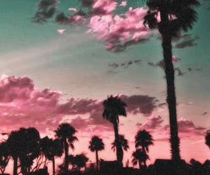 pink, summer, and sky image