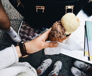 adidas, black and white, and ice cream image