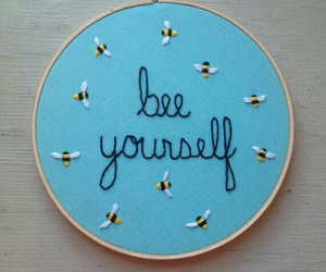 art, bees, and be you image