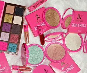cosmetics, jeffree star, and pink image