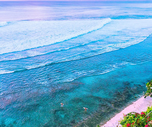 beach, blue, and indonesia image