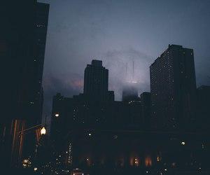 city, night, and black image