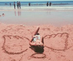 angel, beach, and girl image
