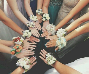 bridesmaid, flowers, and pretty image
