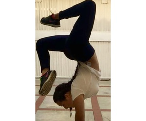fit, gymnast, and flexibility image