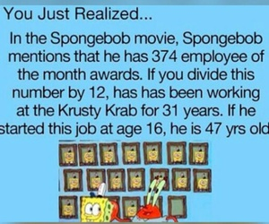 spongebob, old, and quote image