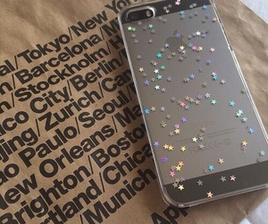 carefree, glitter, and iphone image