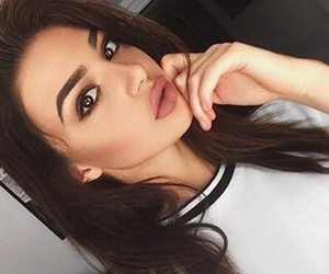 brown eyes, eyeshadow, and face image
