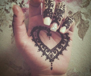 henna, heart, and mandala image