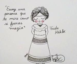 love, frida kahlo, and magia image