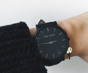 black, watch, and fashion image