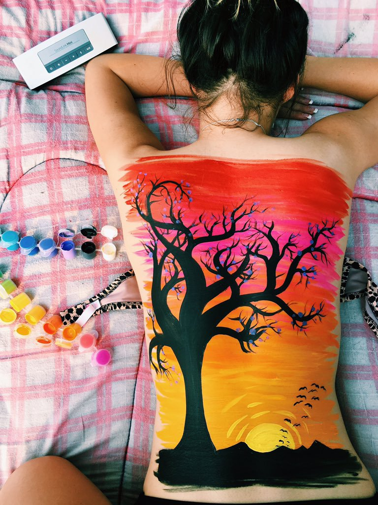 Image About Paint In Body Art By Angela Karina