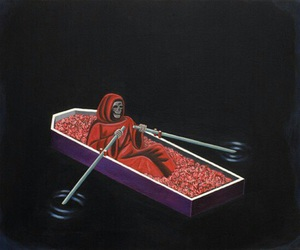 death, red, and art image