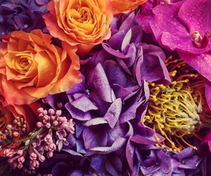 bouquet, bright colors, and colorful image