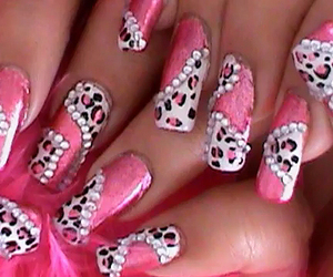 pink, nails, and cute image