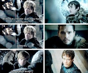 game of thrones, theon greyjoy, and jon snow image