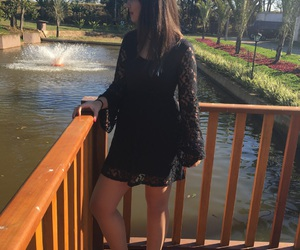 be yourself, black dress, and dress image