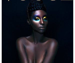black model, eyeshadow, and black woman image