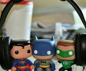 batman, superman, and music image