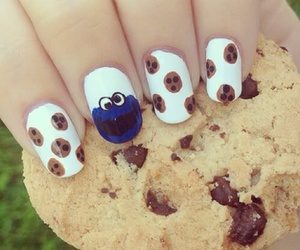 nails, cookie, and nail art image