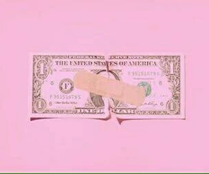 pink, money, and pastel image