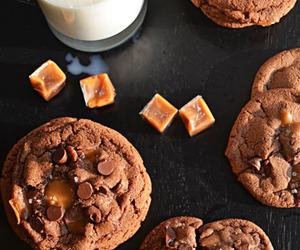 Cookies, food, and caramel image