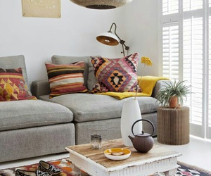 home decor, sofa, and bohemian style image