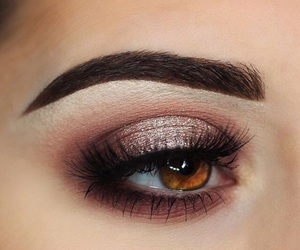 beauty, brown eyes, and eyeshadow image