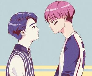 couple, kai, and exo image