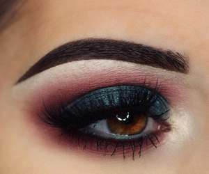 beauty, brown eyes, and eye makeup image